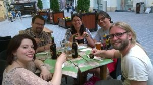 What are a German, a Chilean, a Colombian and two Italians doing sitting at a table in the middle of Transylvania?