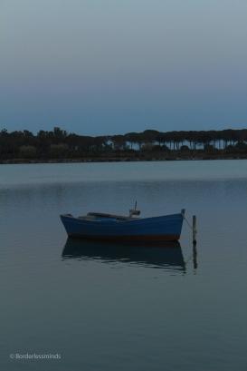 Coastal brackish water fishery; Sardinia, Italy