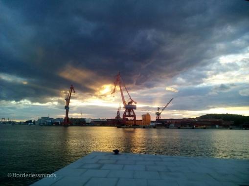 Across the Älv; Gothenburg, Sweden