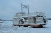 Frozen river; Swedish Lapland
